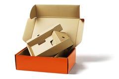 Коробка пакета и картон упаковки Стоковое Изображение