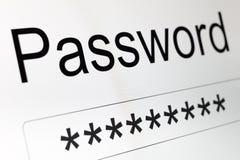 Коробка пароля на экране LCD Стоковая Фотография RF