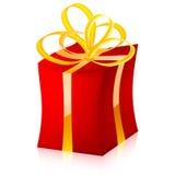 Коробка подарка вектора (красная версия) Стоковое Фото