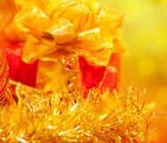 Коробка подарка на рождество Стоковые Изображения RF