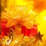 Коробка подарка на рождество Стоковое Изображение RF