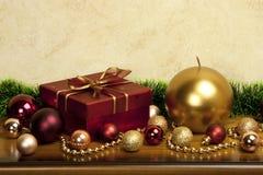 Коробка подарка рождества Стоковые Изображения RF
