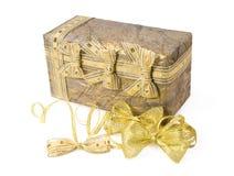 Коробка подарка с смычками Стоковые Изображения