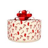 Коробка подарка с смычком Коробка кругла иллюстрация 3d иллюстрация вектора