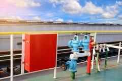 Коробка пожарного рукава безопасности Стоковые Фото