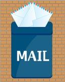 Коробка почтовая с письмом бесплатная иллюстрация