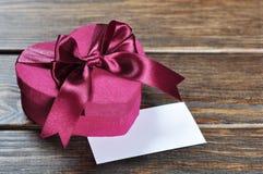 Коробка подарка дня Валентайн Стоковое Изображение