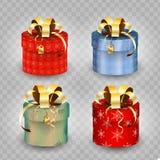 Коробка подарка рождества иллюстрация Стоковая Фотография