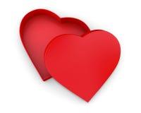 Коробка подарка сердца форменная Стоковое фото RF