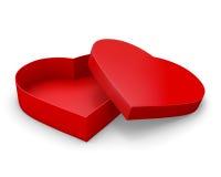 Коробка подарка сердца форменная Стоковые Изображения