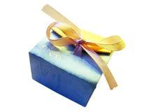 Коробка подарка с лентой Стоковое Изображение