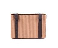 Коробка подарка с кожаными шнурками Стоковые Фотографии RF