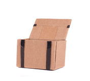 Коробка подарка с кожаными шнурками Стоковые Фото