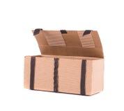 Коробка подарка с кожаными шнурками Стоковое Фото