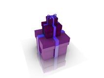 Коробка подарков над иллюстрацией предпосылки 3d Стоковое Фото