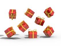 Коробка подарков над иллюстрацией предпосылки 3d Стоковая Фотография