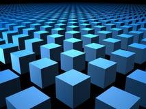 коробка предпосылки 3d кладет кубики в коробку кубика иллюстрация штока