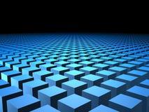 коробка предпосылки 3d кладет кубики в коробку кубика Стоковое Фото