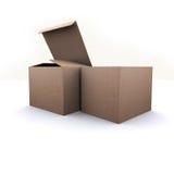 Коробка природы бумажная на белой предпосылке Стоковое Изображение