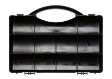 Коробка пустого организатора пластичная Стоковое Фото