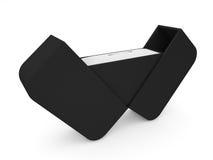Коробка драгоценности на белом переводе предпосылки 3D Стоковая Фотография