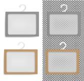 Коробка реалистической прозрачной бумаги упаковывая с вешалкой иллюстрация штока