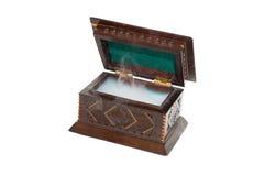 Коробка древесины на белой предпосылке Стоковое фото RF
