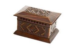 Коробка древесины на белой предпосылке Стоковые Изображения