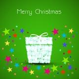Коробка рождественской открытки Стоковые Изображения