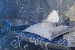 Коробка свадьбы с кольцами Стоковое Изображение