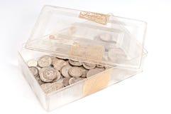 Коробка серебряной монеты Стоковая Фотография