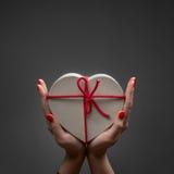 Коробка сердца валентинки Стоковые Изображения