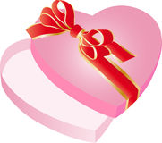 Коробка сердца форменная Стоковые Фотографии RF