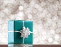 Коробка сини присутствующая Стоковая Фотография RF