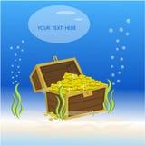 Коробка сокровища подводная Стоковые Изображения