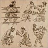 Коробка Спорт бокса Собрание вектора положений бокса некоторого Стоковое фото RF