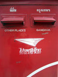 Коробка столба Таиланда красная Стоковое фото RF