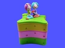 коробка счастливая Стоковое Изображение RF