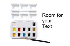 Коробка с блоками акварели Стоковые Изображения RF