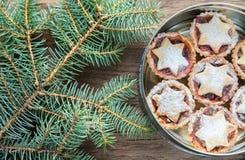Коробка с семенит пироги: взгляд сверху Стоковые Изображения
