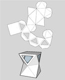Коробка с триангулярными окнами Коробка упаковки для еды Стоковая Фотография RF