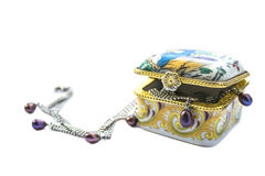 Коробка с ювелирными изделиями Стоковое Фото