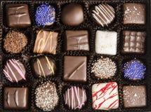 Коробка трюфелей шоколада стоковое изображение rf