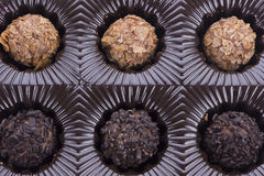 Коробка трюфеля шоколада Стоковые Фото