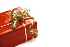 коробка украсила красный цвет подарка Стоковые Фотографии RF