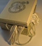 коробка украсила decoupage стоковая фотография rf