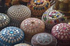 Коробка украшений Multi цвета красочная стоковая фотография