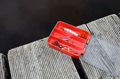 коробка удя красную снасть Стоковое Изображение