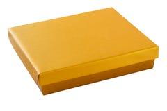 Коробка цвета золота с путем клиппирования Стоковая Фотография
