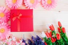 Коробка цветка и подарка стоковая фотография rf